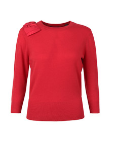 Ted Baker Womens Red Callah Bow Detail Jumper