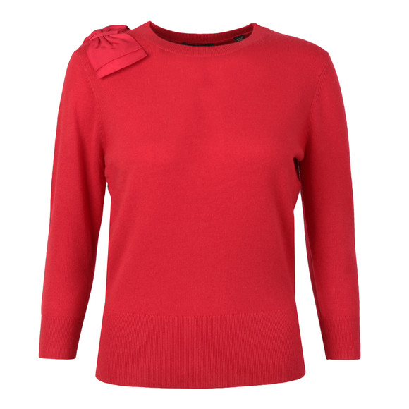 Ted Baker Womens Red Callah Bow Detail Jumper main image