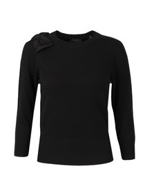 Ted Baker Womens Black Callah Bow Detail Jumper