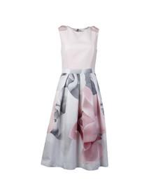Ted Baker Womens Off-white Riina Porcelain Rose Bow Dress