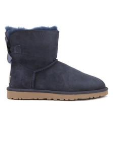 Ugg Womens Blue Mini Bailey Bow II Boot