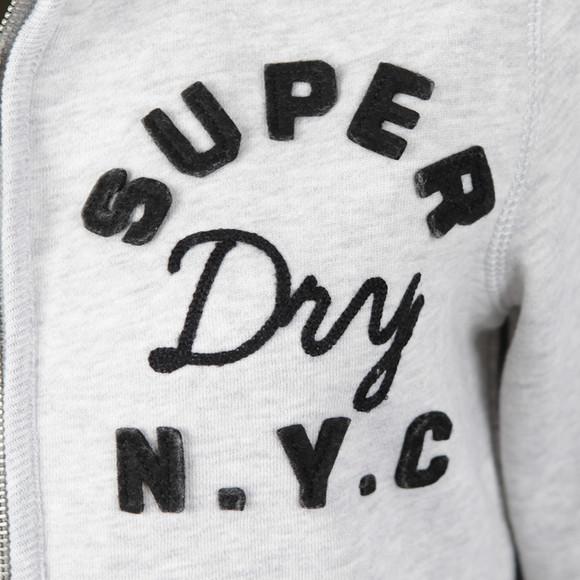 Superdry Womens Grey Applique Borg Zip Hoody main image