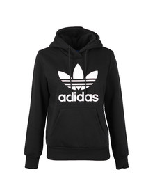 Adidas Originals Womens Black Trefoil Logo Hoody