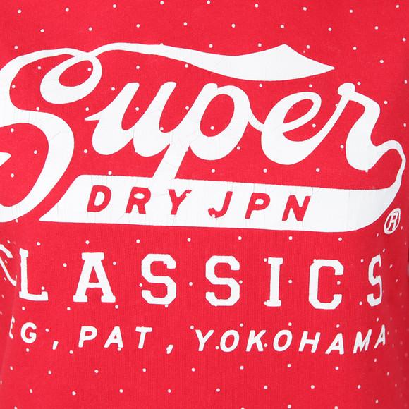 Superdry Womens Red Classics Polka Hoody main image