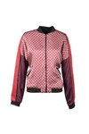 Maison Scotch Womens Red Viscose Bomber Jacket