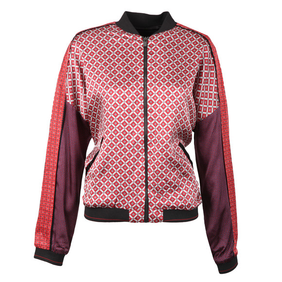 Maison Scotch Womens Red Viscose Bomber Jacket main image