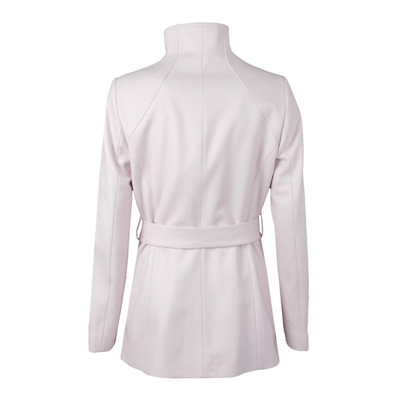 Ted Baker Womens Pink Elethea Short Wrap Collar Coat main image