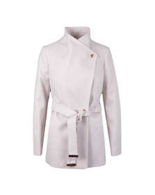 Ted Baker Womens Pink Elethea Short Wrap Collar Coat