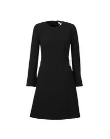 Ted Baker Womens Black Emorly Side Bow Long Sleeve Dress