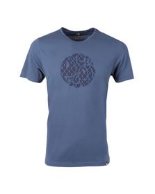 Pretty Green Mens Blue Abbott Applique T Shirt