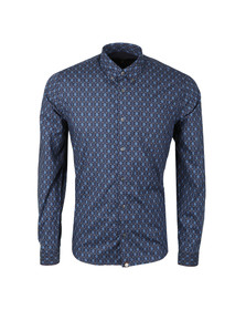 Pretty Green Mens Blue Abbott AOP  Shirt