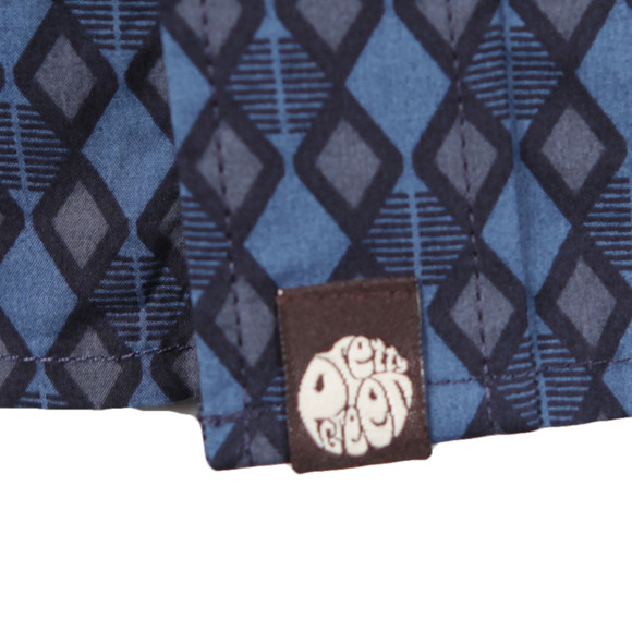 Pretty Green Mens Blue Abbott AOP  Shirt main image