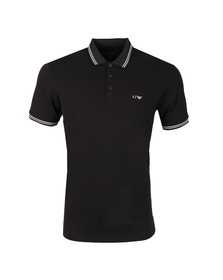 Armani Jeans Mens Black Tipped Polo Shirt