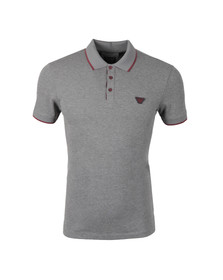 Armani Jeans Mens Grey Tipped Polo Shirt