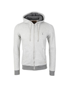 Pearly King Mens Grey Rise Hooded Sweat