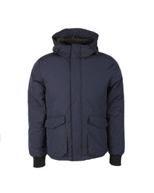 Scotch & Soda Mens Blue Quilted Jacket In Cotton