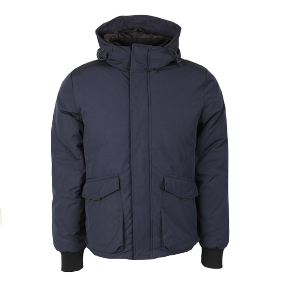 Scotch & Soda Mens Blue Quilted Jacket In Cotton main image