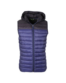Scotch & Soda Mens Black Quilted Hooded Bodywarmer