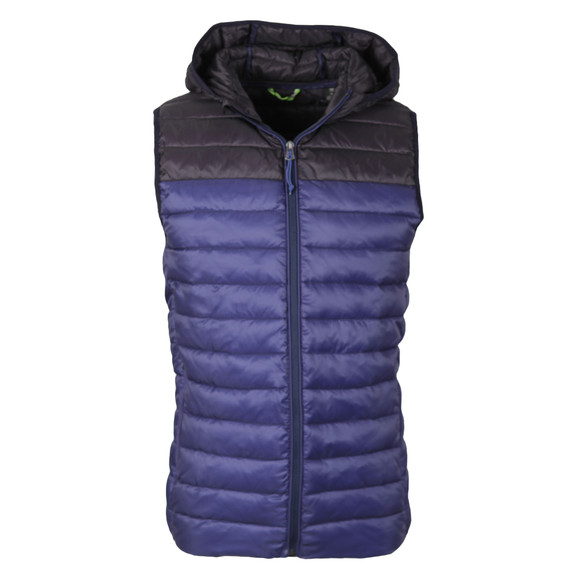 Scotch & Soda Mens Black Quilted Hooded Bodywarmer main image