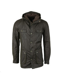 Barbour Lifestyle Mens Green Brindle Wax Jacket