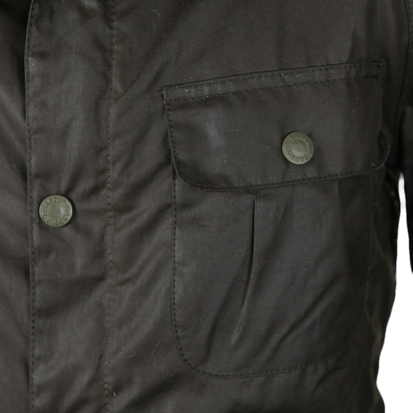 Barbour Lifestyle Mens Green Brindle Wax Jacket main image