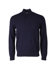 Hackett Mens Blue 1/2 Zip Jumper