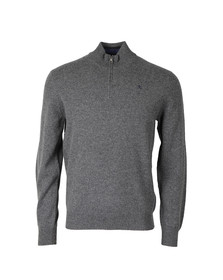 Hackett Mens Grey 1/2 Zip Jumper