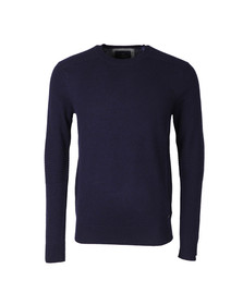 Scotch & Soda Mens Blue Shoulder Detail Knit Jumper