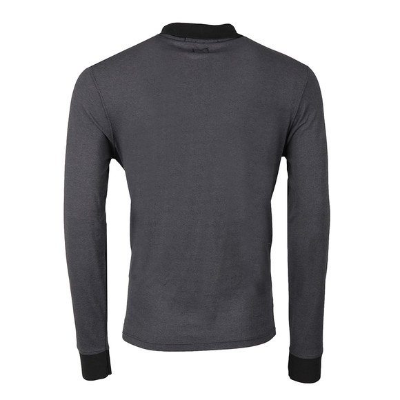 C.P. Company Mens Black Slim Fit Long Sleeve Polo Shirt main image