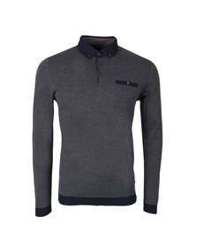 Ted Baker Mens Grey L/S Oxford Polo