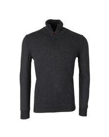 Boss Orange Mens Grey Kwemare Half Zip Knit