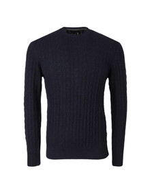 Barbour Lifestyle Mens Blue Essential Cable Crew