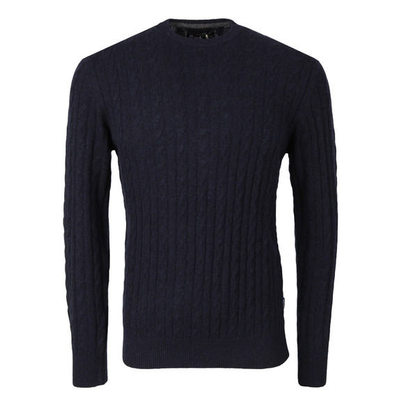 Barbour Lifestyle Mens Blue Essential Cable Crew main image
