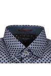 Ted Baker Mens Blue L/S Geo Print Shirt