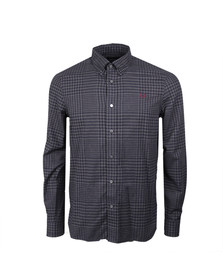 Fred Perry Mens Grey L/S Gingham Twill Shirt