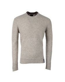 Vivienne Westwood Anglomania Mens White Double Collar Jumper