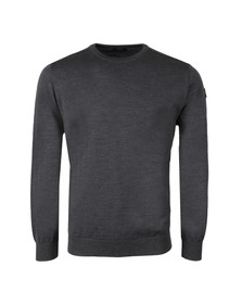 Paul & Shark Mens Grey Fine Wool Crew Neck Jumper