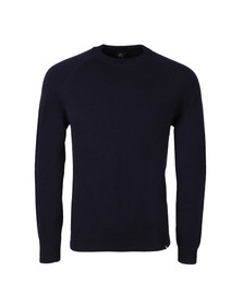 Paul Smith Mens Blue Knitted Wool Crew Neck Jumper