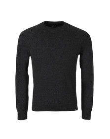 Paul Smith Mens Grey Knitted Wool Crew Neck Jumper