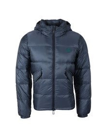 Paul Smith Mens Blue Hooded Down Jacket