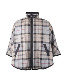 Barbour Lifestyle Womens Grey Brunway Wool Cape