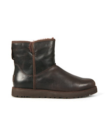 Ugg Womens Brown Cory Leather Boot