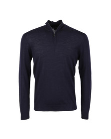 Aquascutum Mens Blue Tomkis CC Half Zip Knit