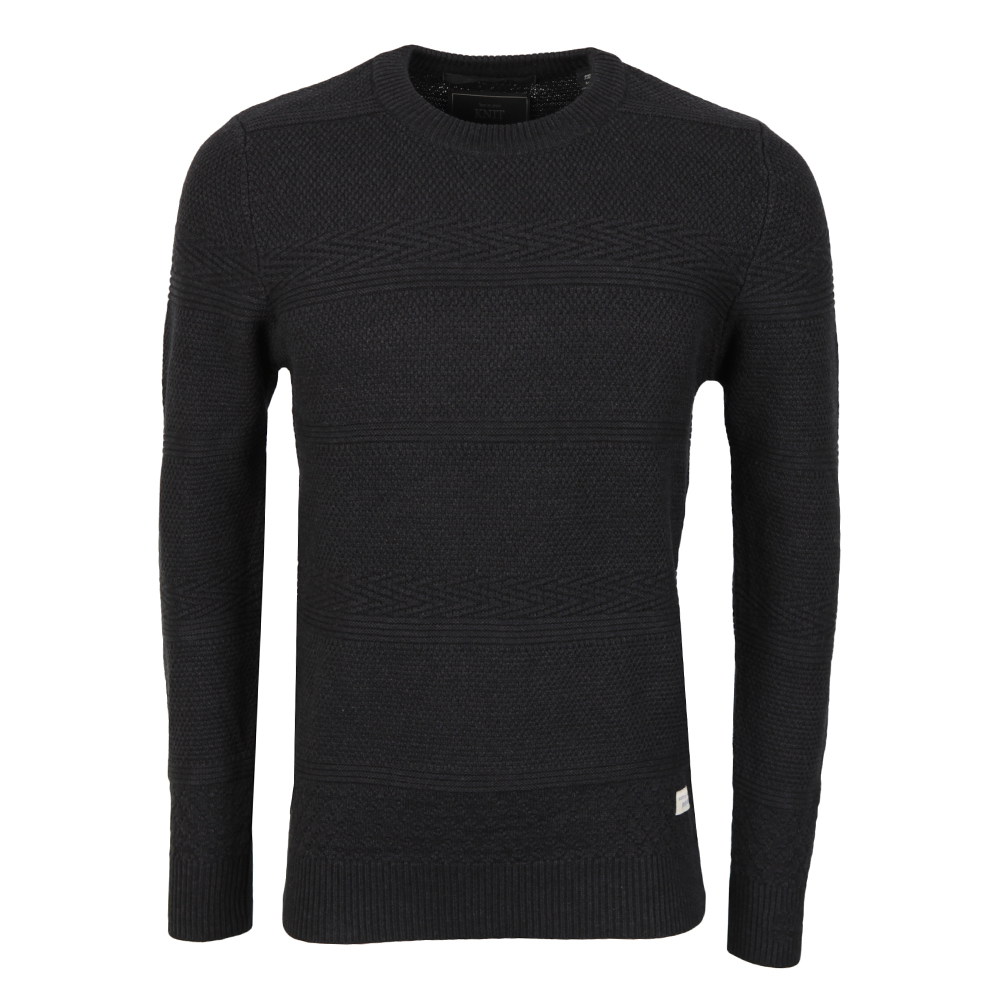Crew Neck Structured Knit Jumper main image
