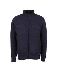 Barbour International Mens Blue Lateral Zip Through