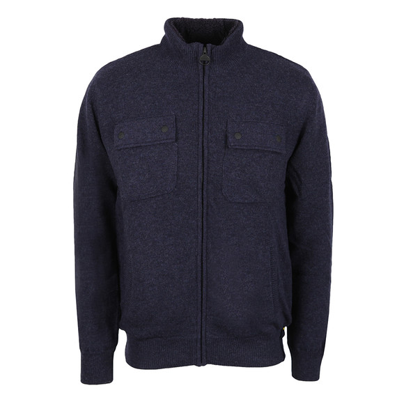 Barbour International Mens Blue Lateral Zip Through main image