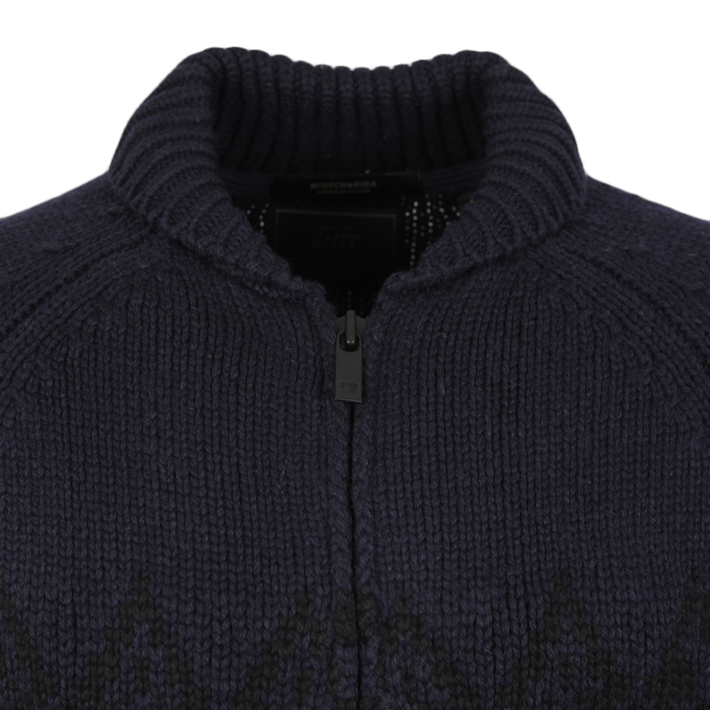 Knitted Zip Thru Cardigan main image