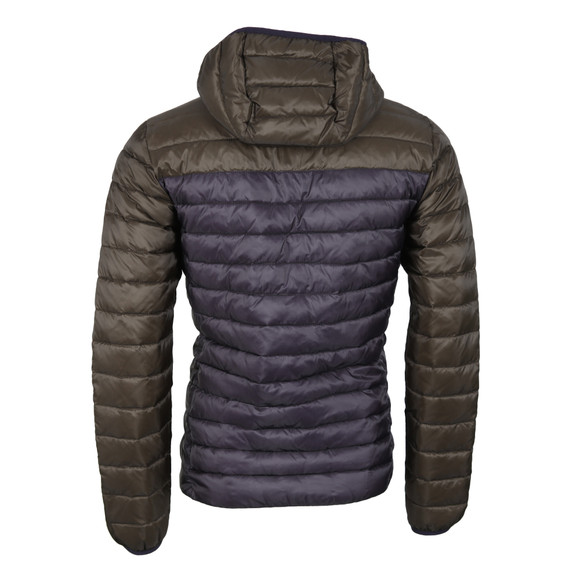 Scotch & Soda Mens Green Quilted Hooded Jacket main image