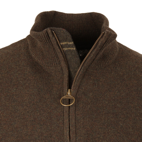 Barbour Lifestyle Mens Green Holden Half Zip Jumper