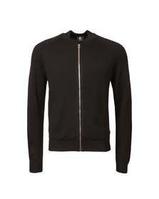 Paul Smith Mens Black Merino Full Zip Cardigan